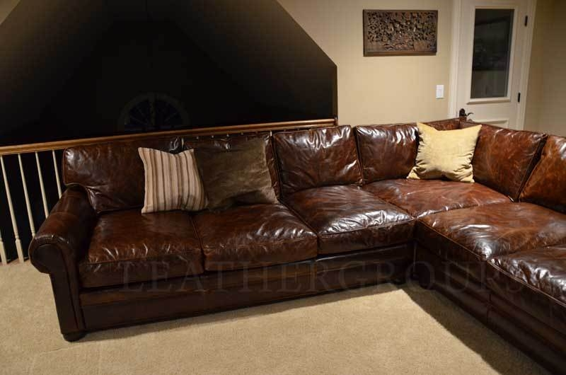 Inspiration About Sofa Beds Design Awesome Traditional Eggplant Sectional  Sofa Within Vintage Leather Sectional Sofas (