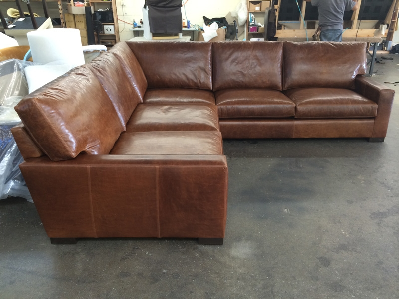 Por Photo Of Vintage Leather Sectional Sofas