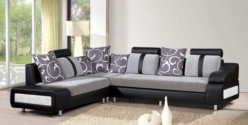 Sofa Fabric Set L Shape Ciov With Regard To L Shaped Fabric Sofas (View 12 of 15)