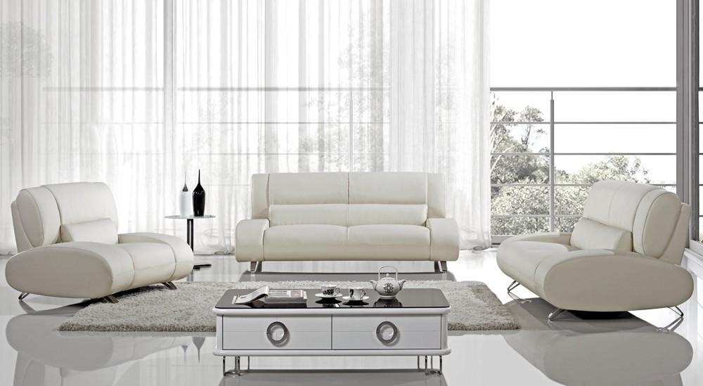 Sofa Inspiring Off White Leather Sofa 2017 Design White Leather Intended For Off White Leather Sofa And Loveseat (#12 of 15)
