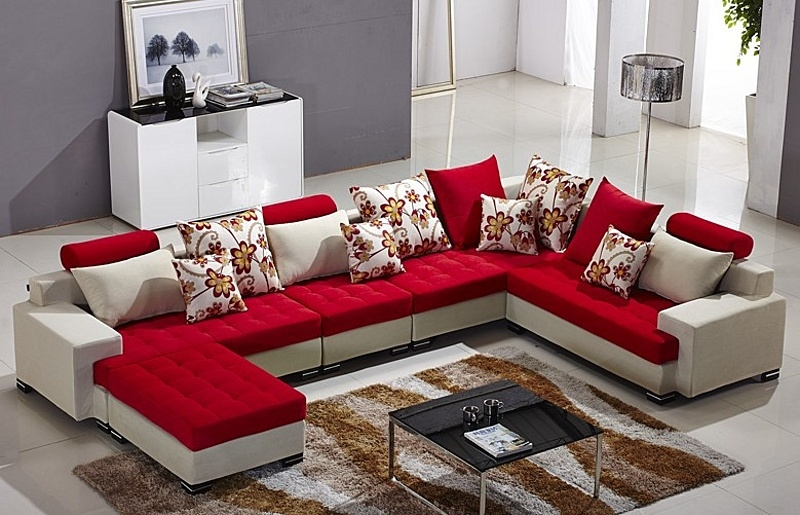 15 Photo Of L Shaped Fabric Sofas