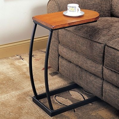 Sofa Table Couch Tray Side Cup Holder Magazine Tv Dinning Snack Throughout Sofa Drink Tables (#15 of 15)