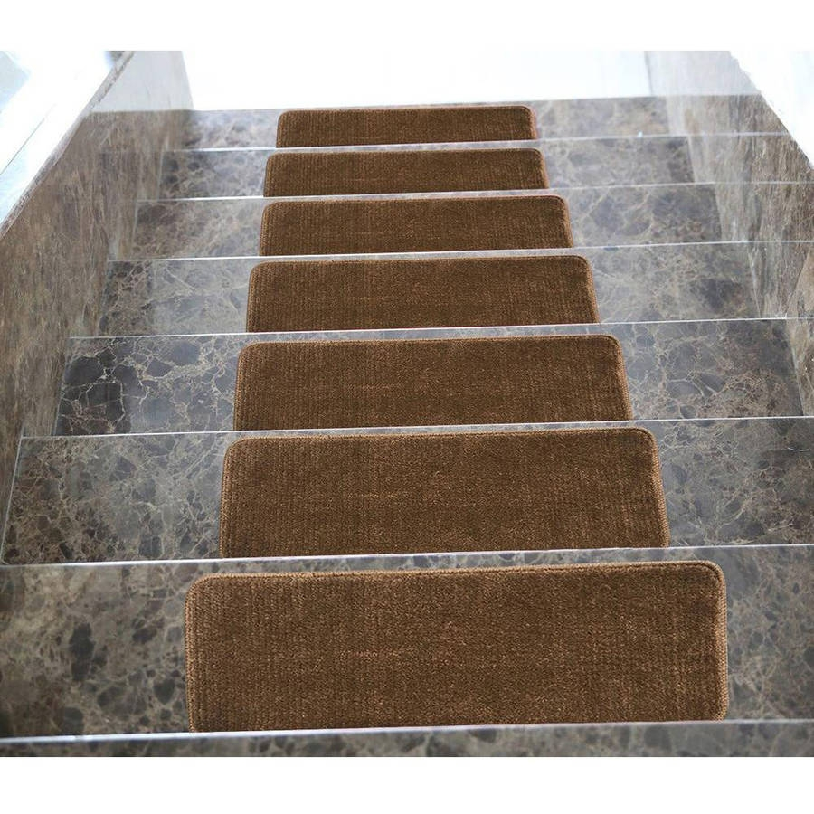Softy Stair Treads Solid Skid Resistant Rubber Backing Non Slip Pertaining To Rubber Backed Stair Tread Rugs (View 9 of 20)