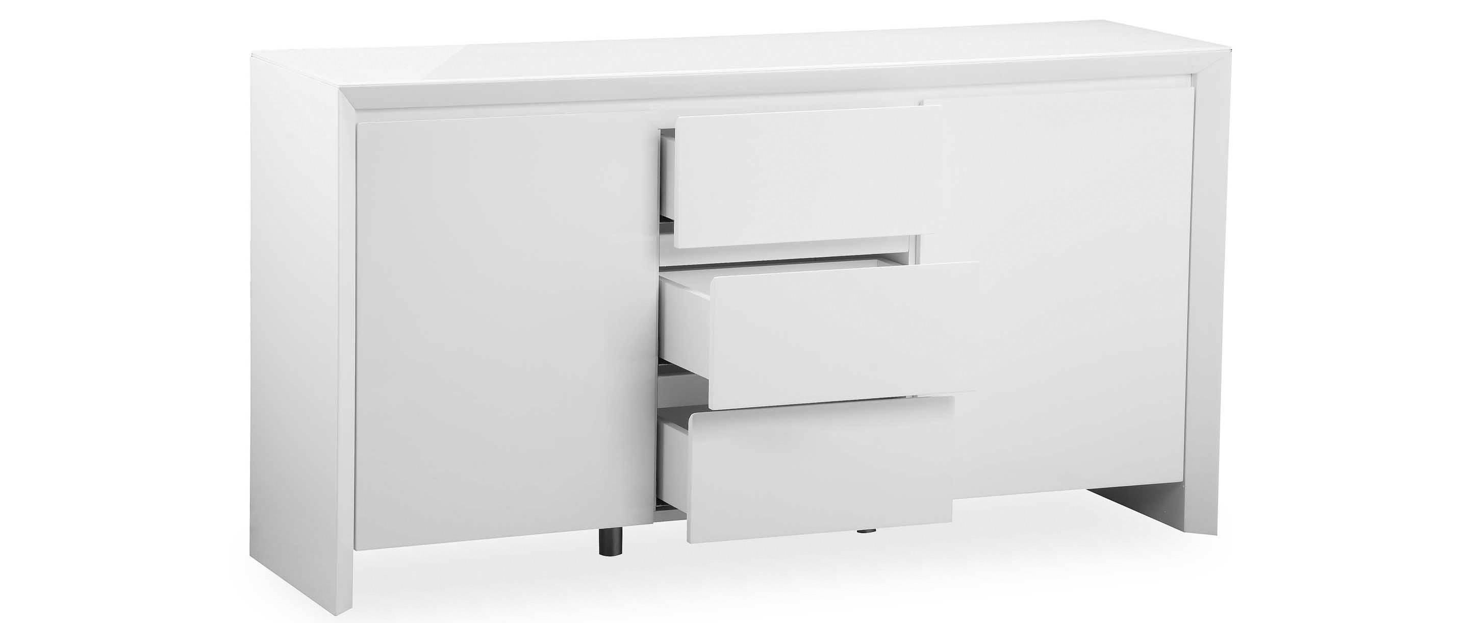 Soho – Large Sideboard – White High Gloss Inside Large White Sideboard (#19 of 20)