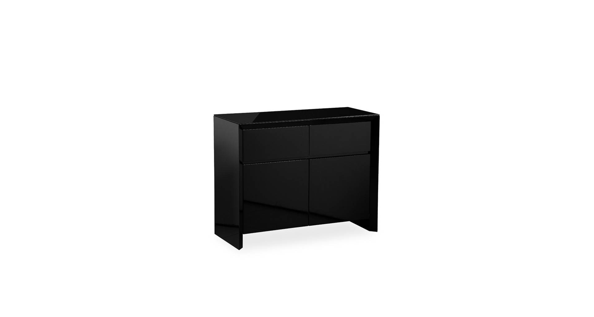 Soho – Small Sideboard – Black High Gloss Inside Small Black Sideboards (#20 of 20)