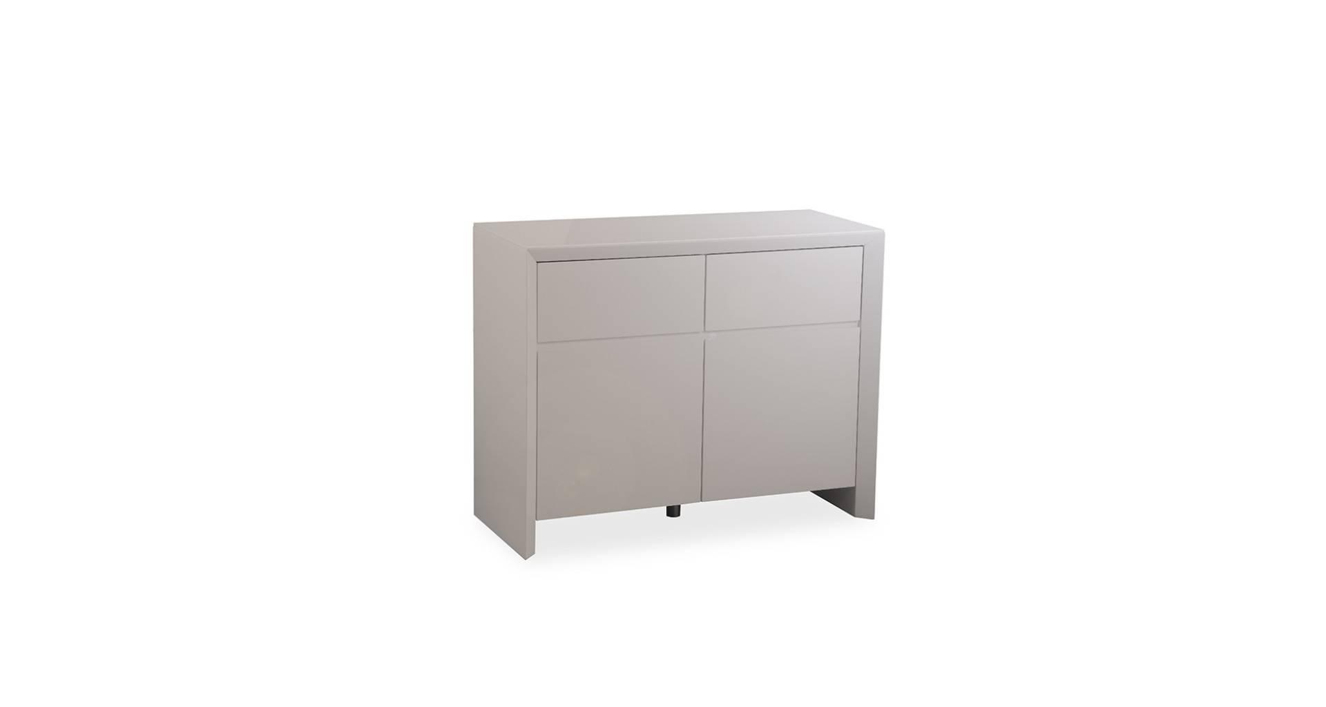 Soho – Small Sideboard – Grey High Gloss Inside Grey Gloss Sideboard (#17 of 20)