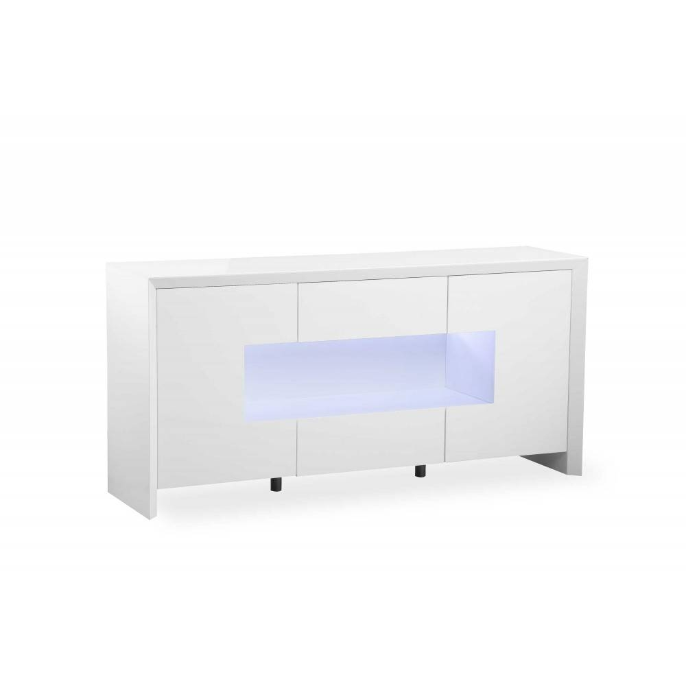 Soho White Gloss Led Display Sideboard – Nicholas John Interiors With Regard To Gloss White Sideboard (#16 of 20)