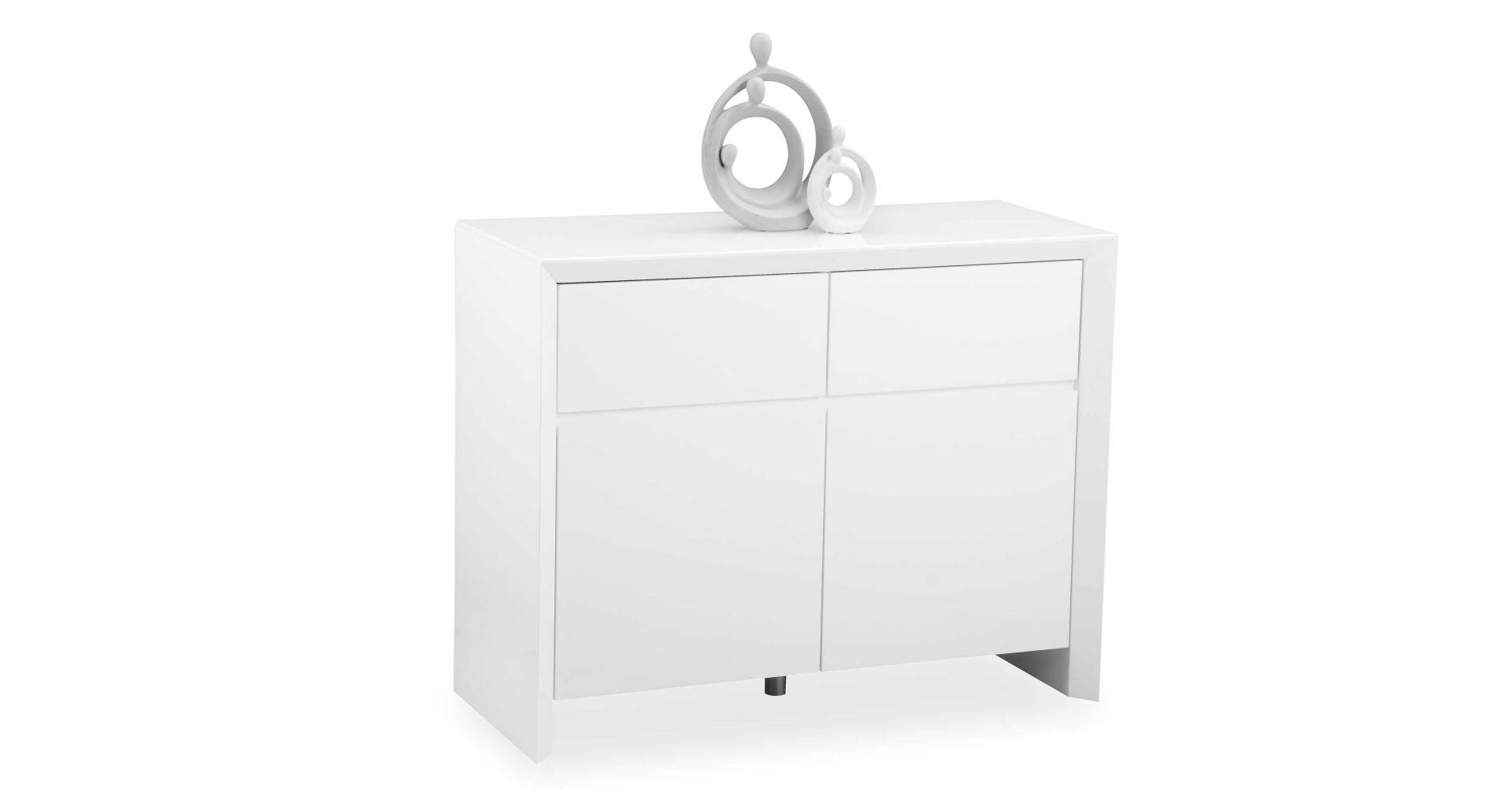 Soho – White – Small Sideboard – High Gloss Throughout Small White Sideboard (#18 of 20)