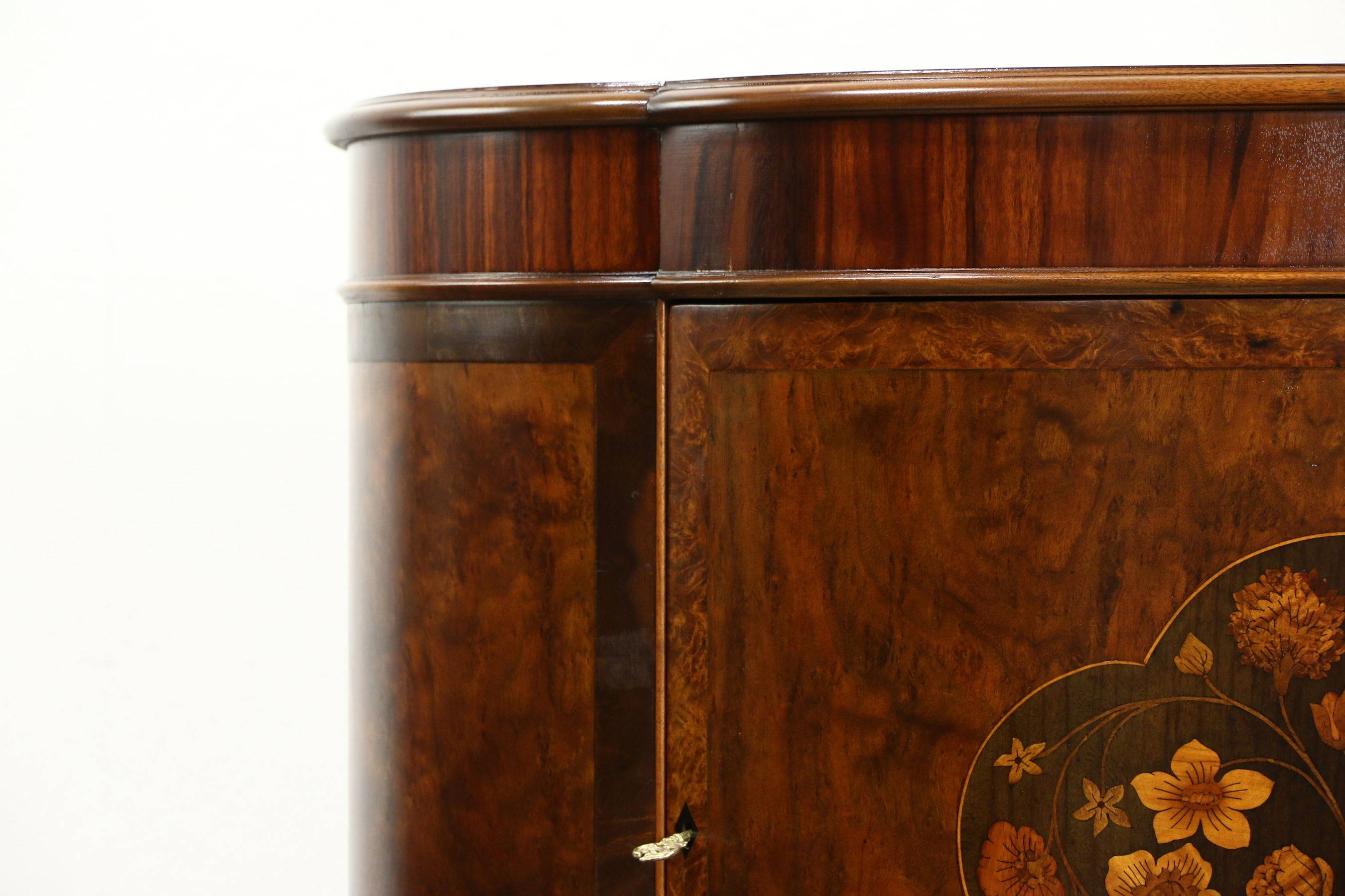 Sold – Demilune Half Round Antique Sideboard Or Hall Console For Hall Sideboard (View 16 of 20)