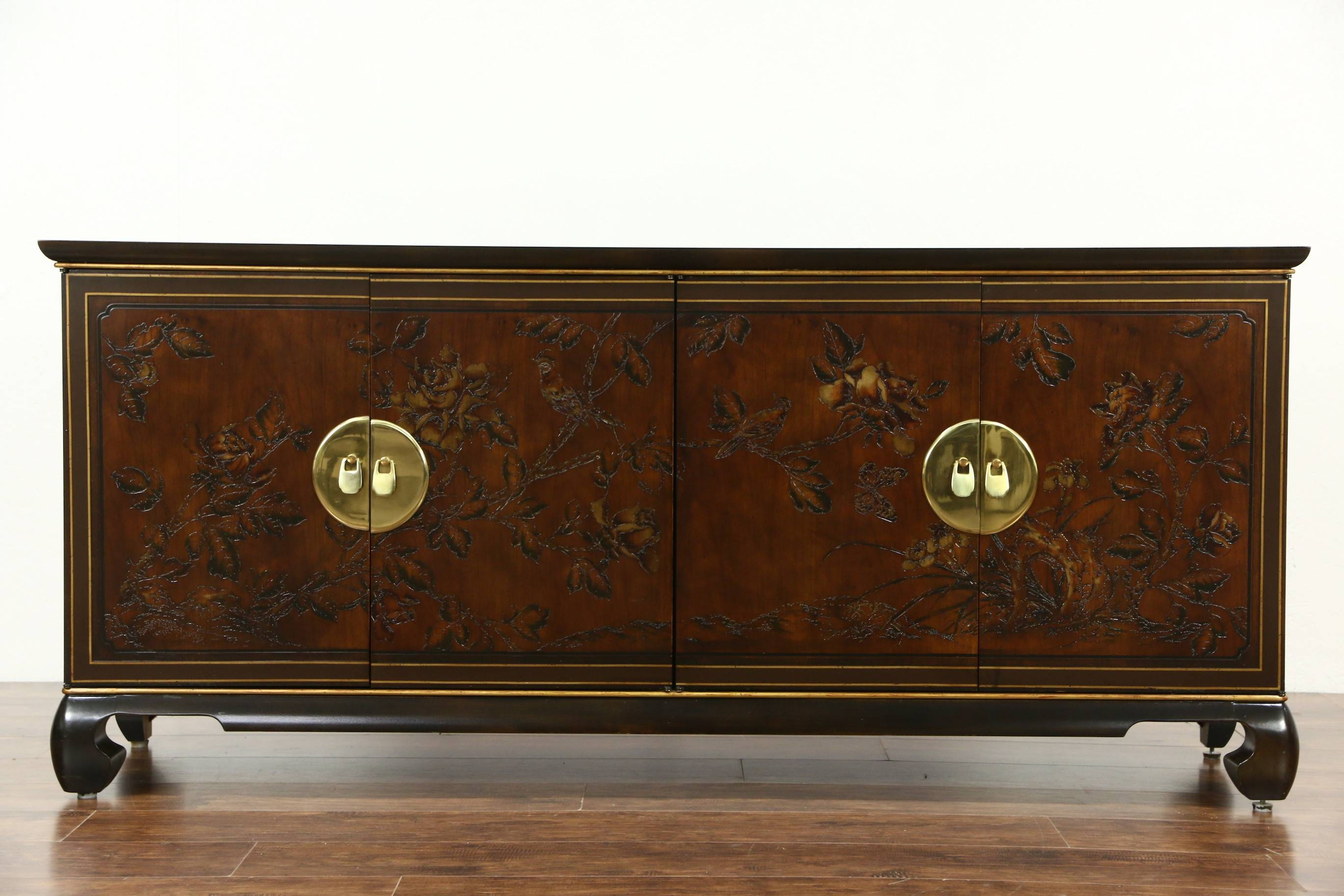 Sold – Drexel Heritage Connoisseur Chinese Vintage Sideboard With Regard To Chinese Sideboards (View 11 of 20)
