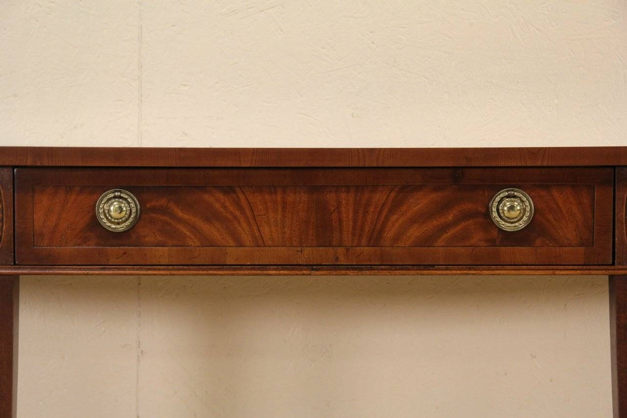 Sold – Hekman Vintage Hall Console Or Sideboard, Banded Mahogany Within Hall Sideboard (View 17 of 20)
