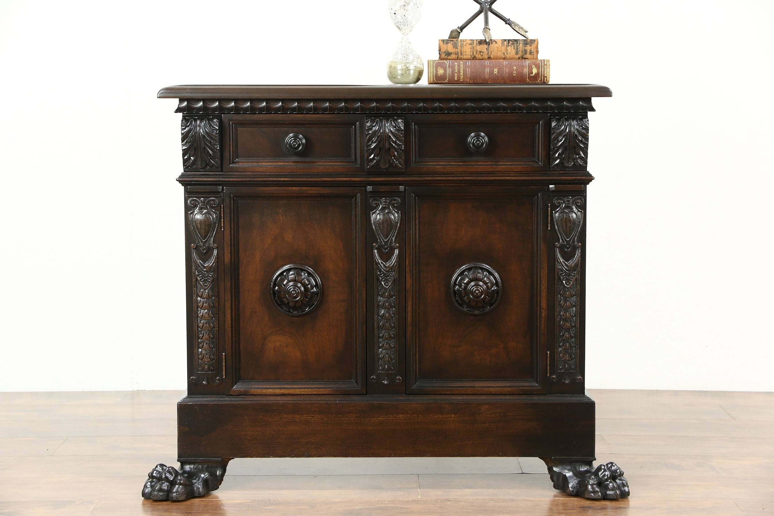 Sold – Italian Antique Hall Console Cabinet Or Sideboard, Carved For Hall Sideboard (View 18 of 20)