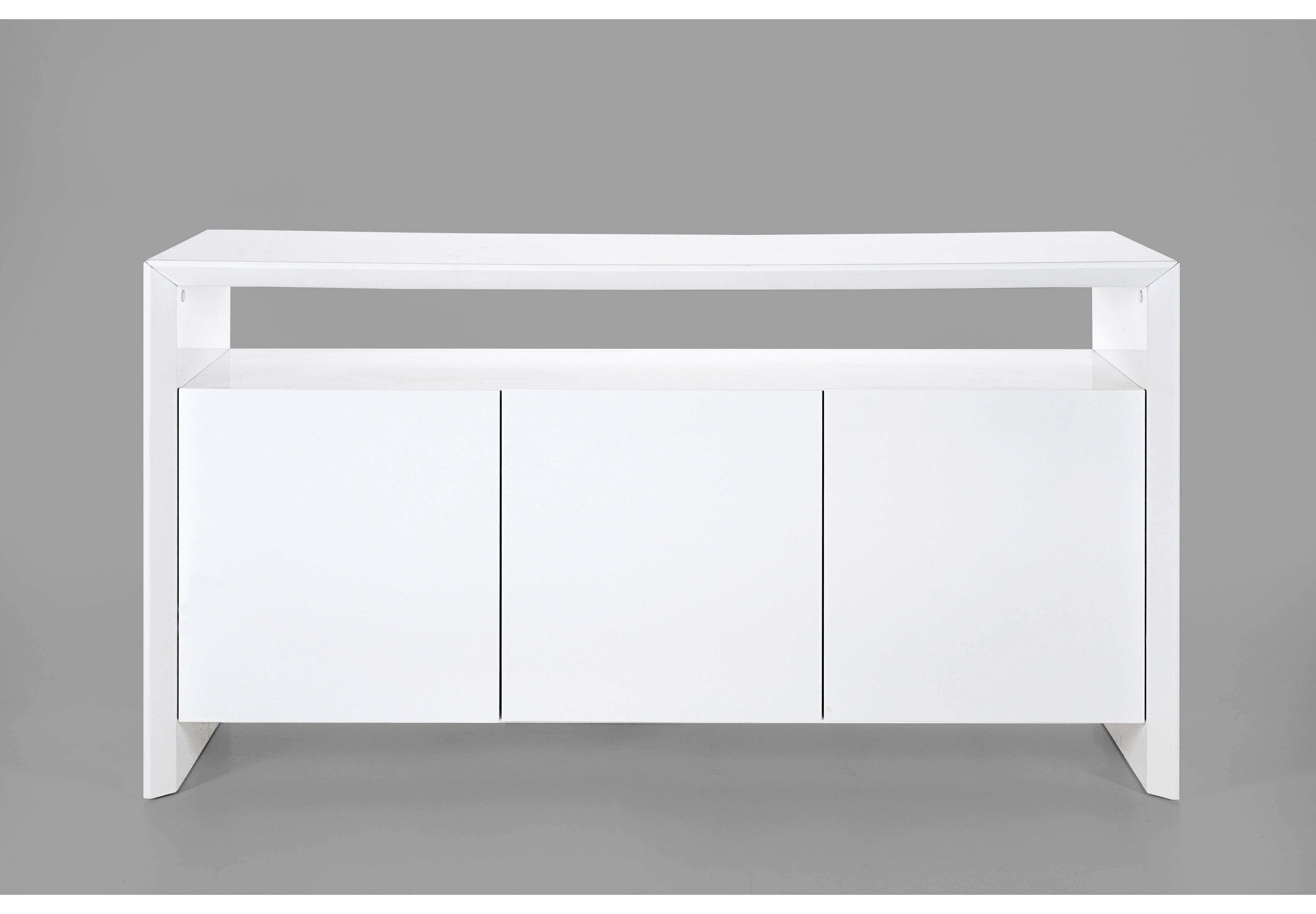 Soley White High Gloss Sideboard In White Gloss Sideboards (#17 of 20)