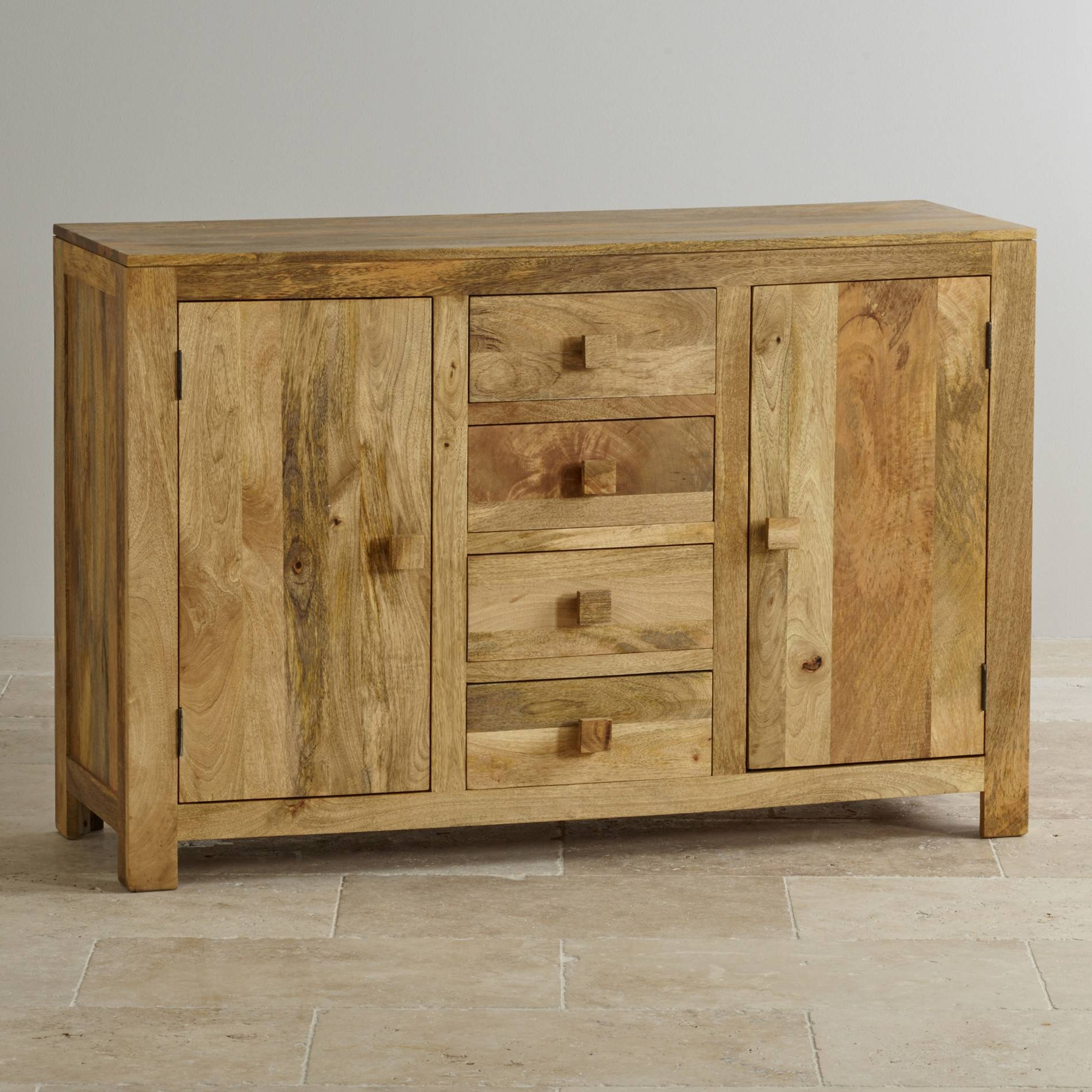Solid Mango Wood Furniture | Mantis Light | Oak Furniture Land Pertaining To Light Wood Sideboards (View 7 of 20)