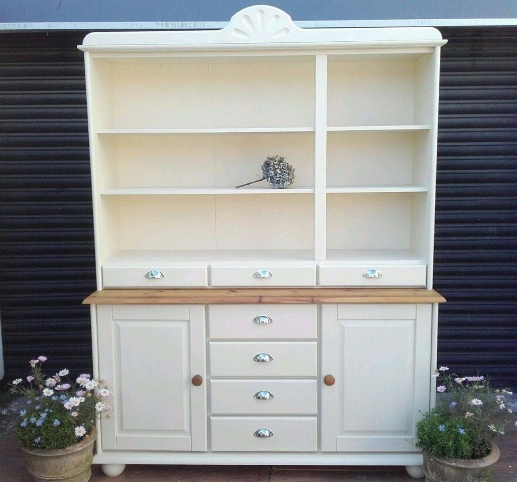 Solid Pine Dresser Kitchen Unit Welsh Dresser Sideboard Shabby Pertaining To Kitchen Sideboard (View 15 of 20)