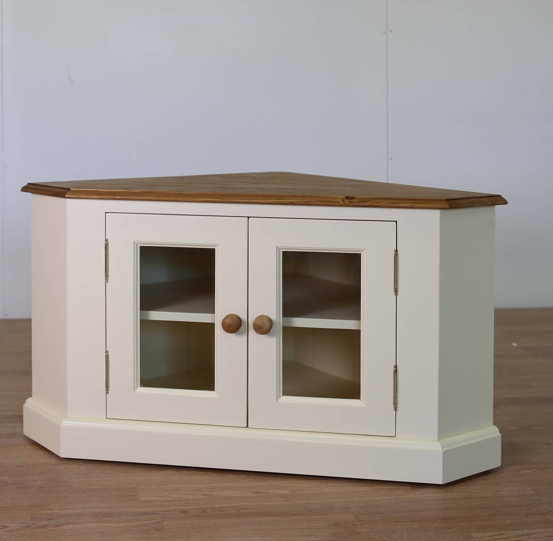 Solid Pine Painted Glazed Tv Corner Unit – Furniture4yourhome (View 12 of 20)