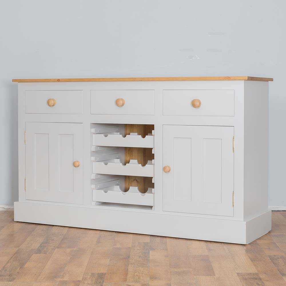 Solid Pine Painted Wine Rack Sideboard | Furniture4Yourhome Intended For Sideboards With Wine Racks (#17 of 20)