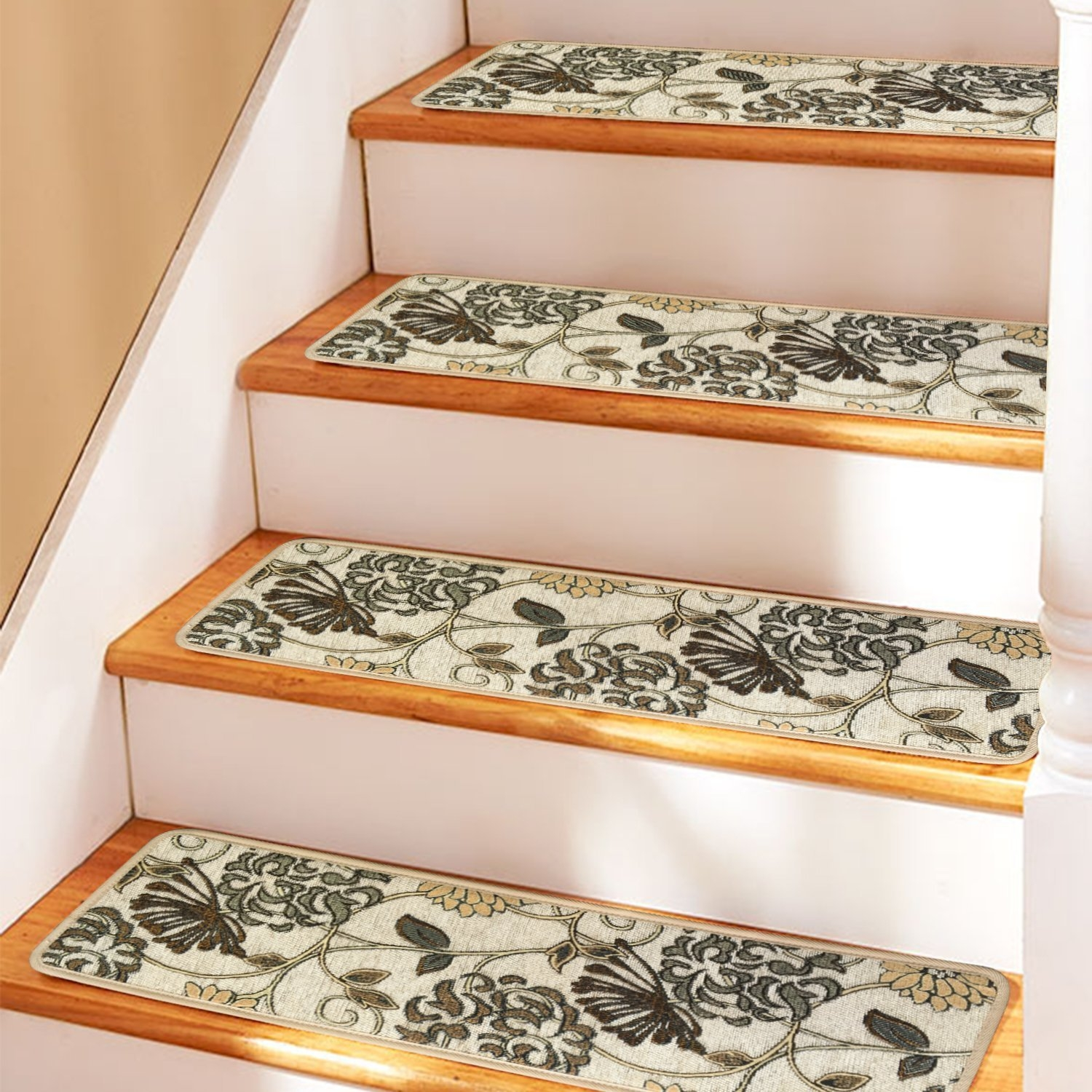 Soloom Carpet Stair Treads Non Slip Set Of 13 Indoor Skid Intended For Rubber Backed Stair Tread Rugs (View 10 of 20)