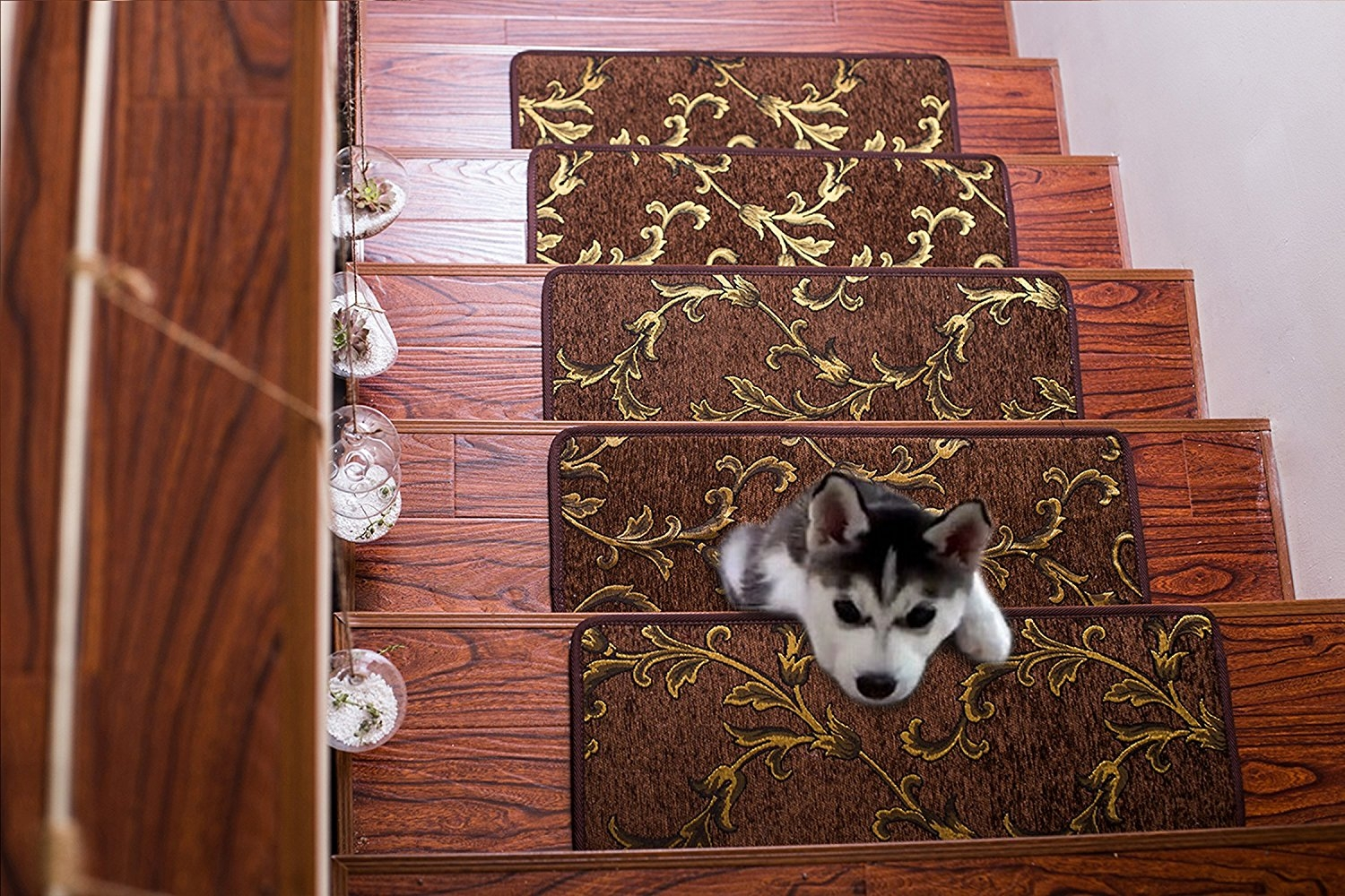 Soloom Non Slip Stair Treads Carpet Indoor Set Of 13 Blended With Regard To Skid Resistant Stair Treads (#18 of 20)