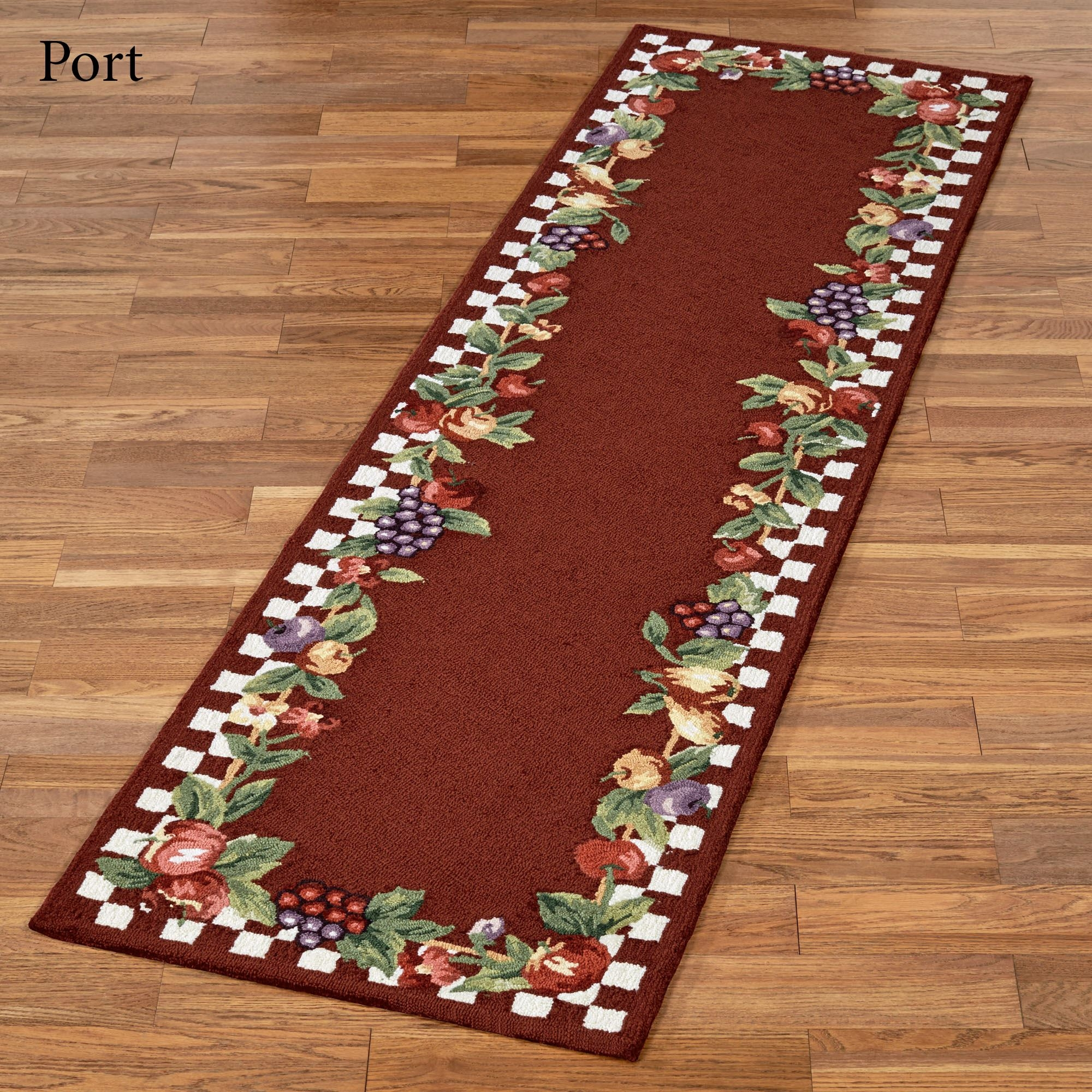 Sonoma Hand Hooked Fruit Rug Runners Regarding Red Hallway Runners (View 19 of 20)