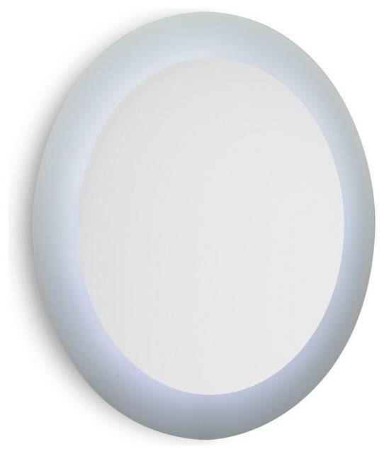 Speci 5687 Round Wall Mounted Bathroom Mirror With White Frame And Within Round White Mirrors (#25 of 30)