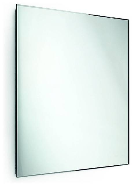 Speci Wall Frameless Square Bevelled 5Mm Vanity Bedroom Mirror For Square Frameless Mirrors (#26 of 30)