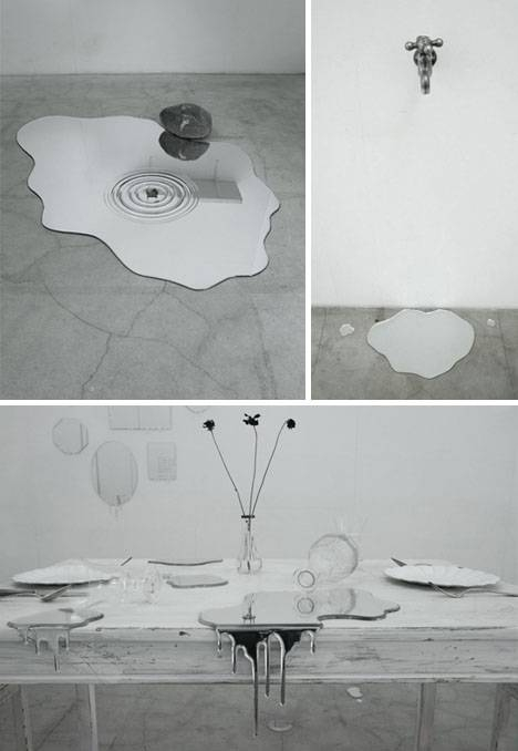 Spilling Glass: 5 Melted Wall Mirrors Form Liquid Reflections Regarding Liquid Glass Mirrors (#30 of 30)