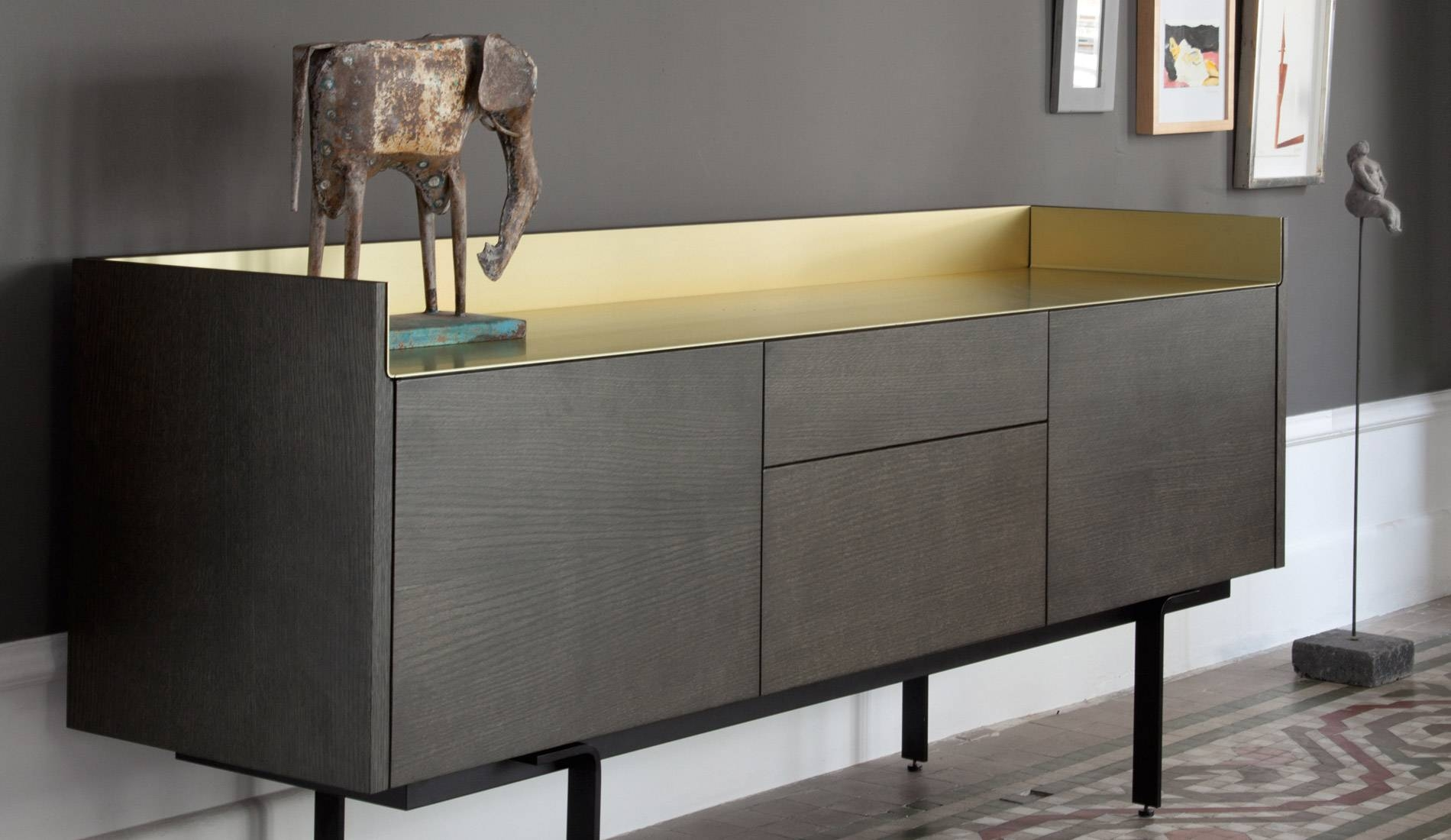 20 Ideas Of Dark Grey Sideboard