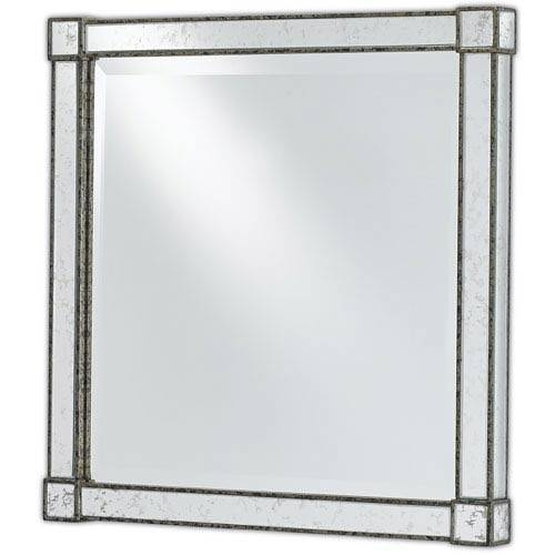 Square Antique Mirror | Bellacor Throughout Black Antique Mirrors (#28 of 30)