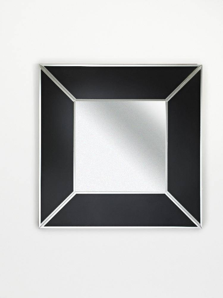 Square Couture Black Box Frameless Bevelled Wall Mirrordeknudt In Black Bevelled Mirrors (#18 of 20)