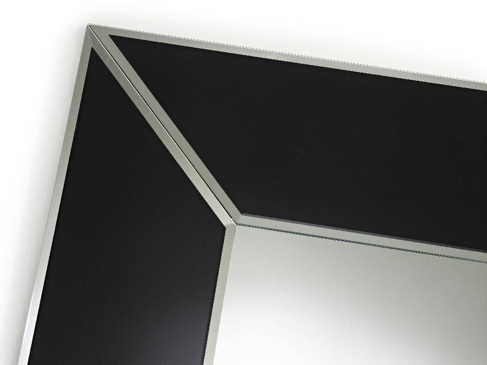 Square Couture Black Box Frameless Bevelled Wall Mirrordeknudt Pertaining To Black Bevelled Mirrors (#19 of 20)