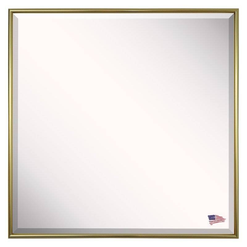 Square Gold Metal Wall Mirror | Allmodern With Regard To Square Gold Mirrors (#16 of 20)