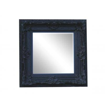 Square Heavily Ornate Black Rococo Mirror – Ayers & Graces Online With Black Rococo Mirrors (#28 of 30)
