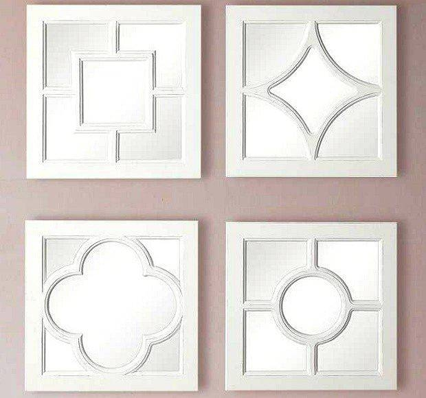 20 inspirations of white decorative mirrors - White wood framed bathroom mirrors ...