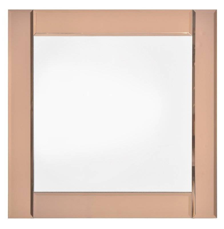 Square Rose Gold Wall Mirror & Reviews | Joss & Main With Gold Wall Mirrors (View 9 of 30)