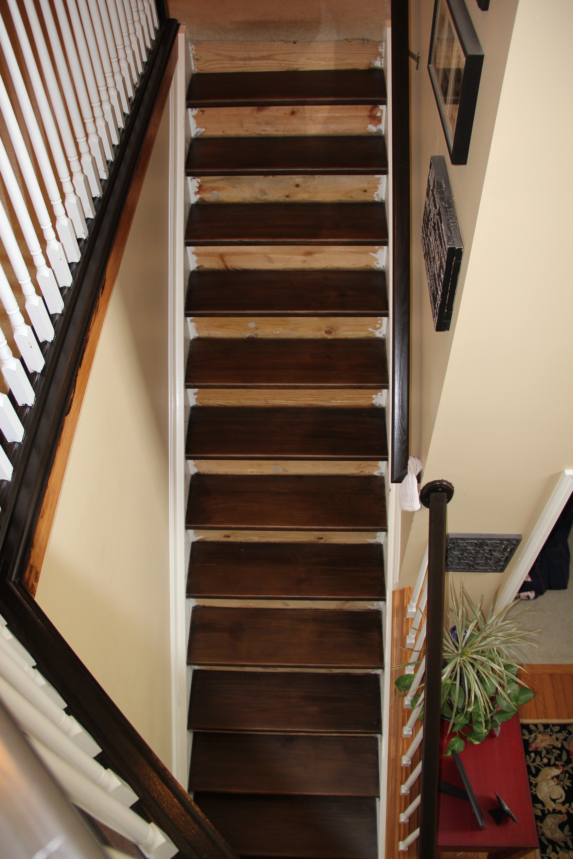Staining Pine Stair Treads Tempting Thyme Regarding Stair Protectors Wooden Stairs (#15 of 20)