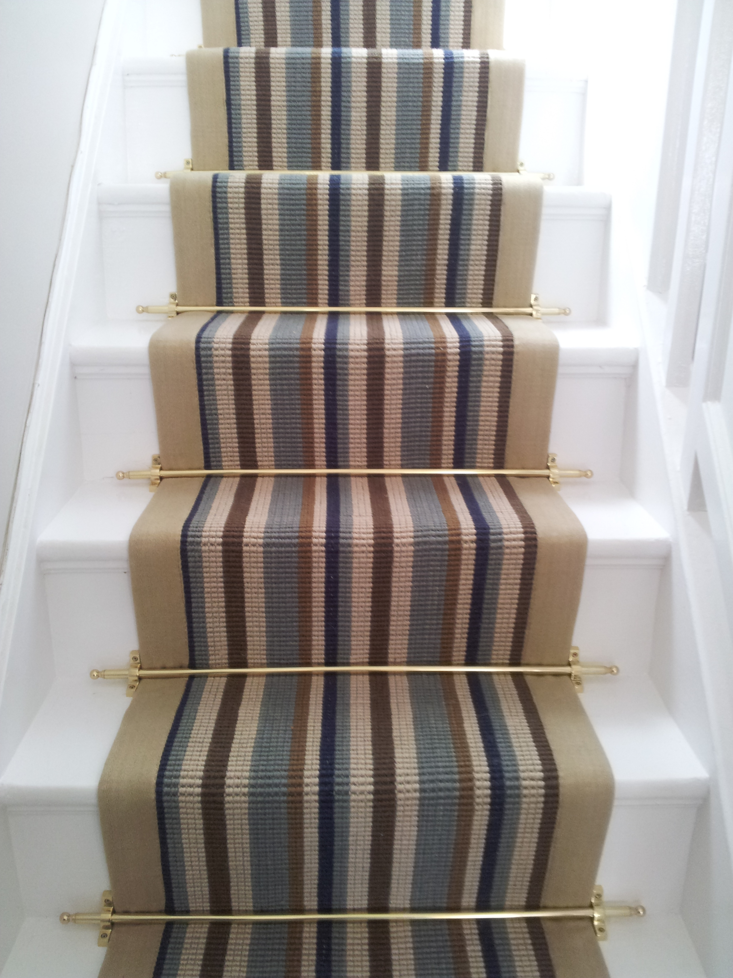 Stair Carpets With Rods Meze Blog Regarding Rug Runners For Stairs (#16 of 20)