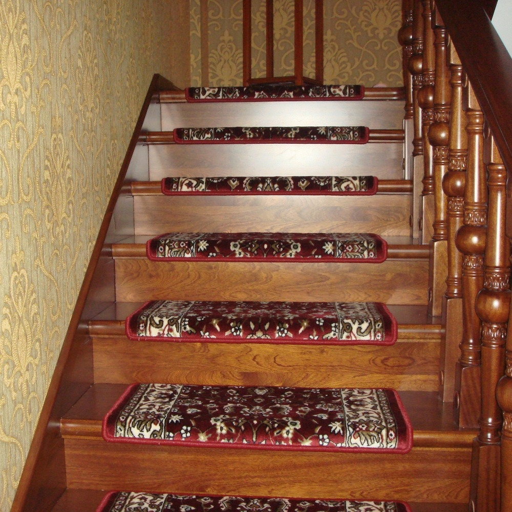 Stair Stair Tread Carpet Mats Benefits Carpet For Stair Treads Within Brown Stair Treads (#17 of 20)