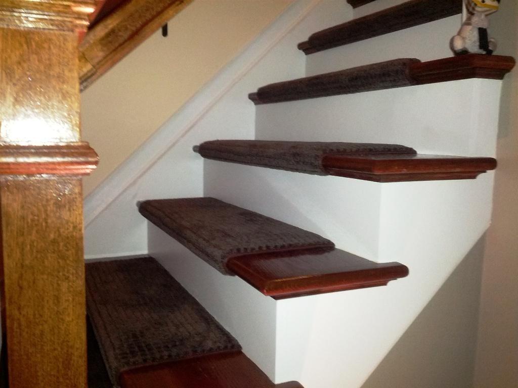 Stair Treads Carpet Free Brown Aqua Shield Boxwood Stair Tread Throughout Carpet Treads For Stairs (#18 of 20)