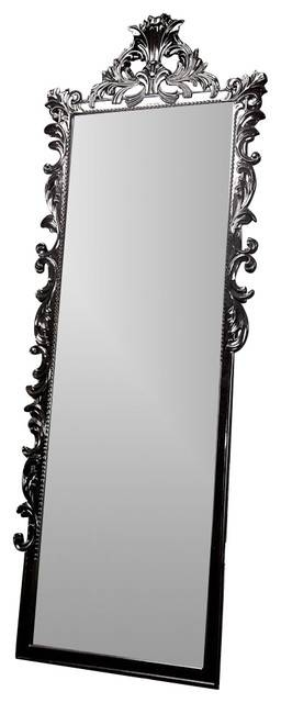 Standing Baroque Mirror – Victorian – Floor Mirrors  Diva Intended For Black Baroque Mirrors (#17 of 20)
