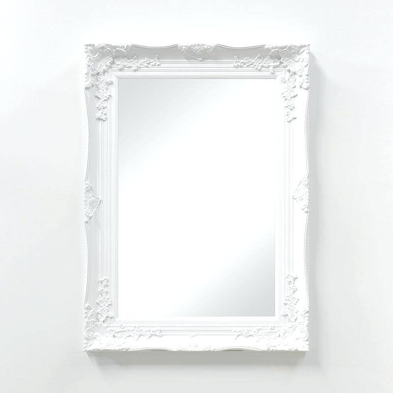 Sterling 3183 002 Maidstone Modern Black Ash White Antique Mirror Intended For White Antique Mirrors (#17 of 20)