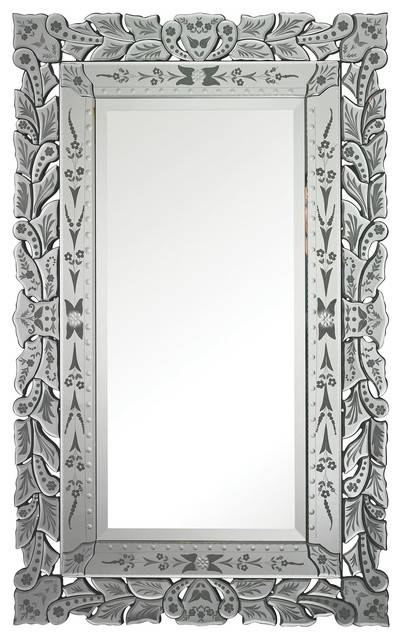 "Sterling Industries Clear Bardwell Venetian 50""x31"" Wall Mirror Throughout Rectangular Venetian Mirrors (#19 of 30)"