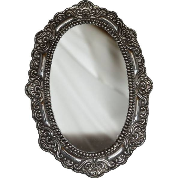 Sterling Silver Framed Oval Mirror,mid 1900S (#18 of 20)