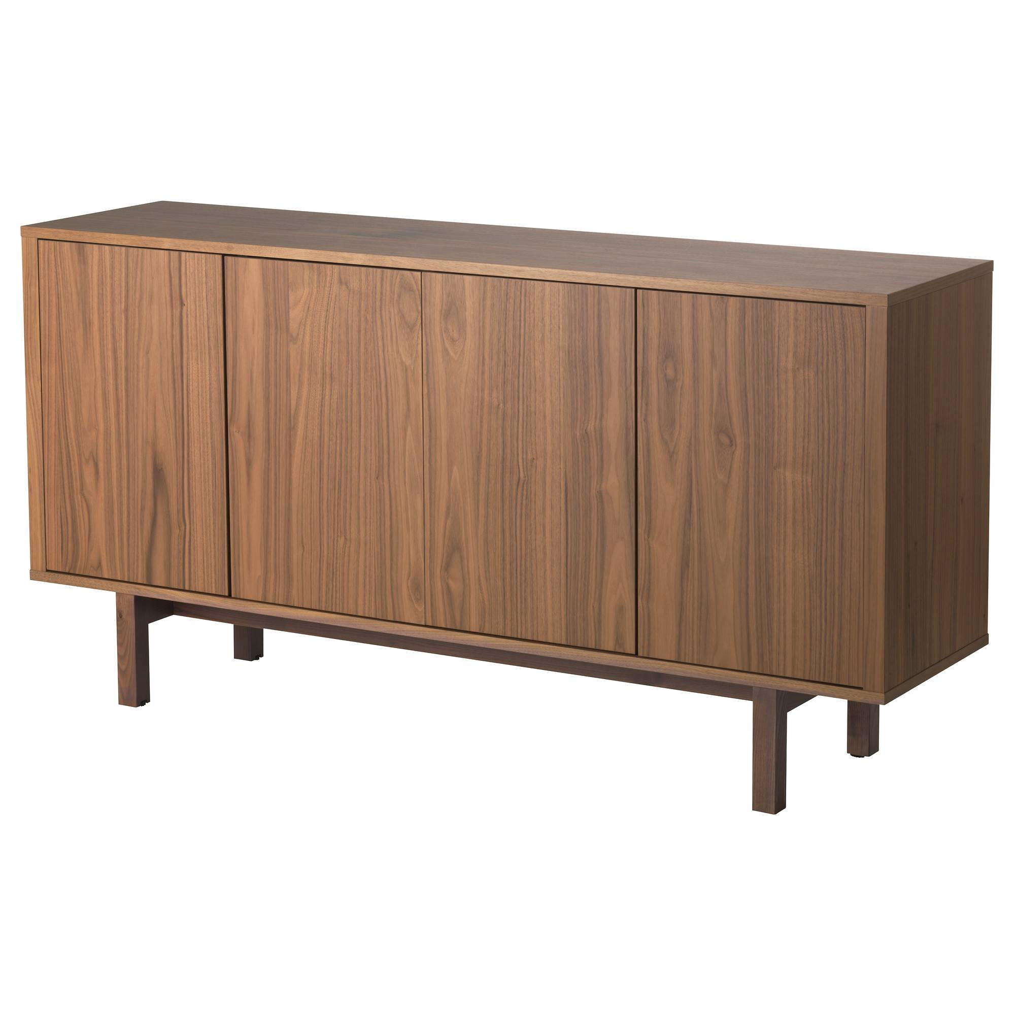 Stockholm Sideboard Walnut Veneer 160X81 Cm – Ikea Inside Black And Walnut Sideboard (#20 of 20)