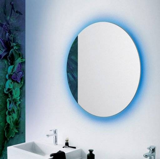 """Stone Lighting – Product Details – Mirror Rgb Round 28"""" With Led For Blue Round Mirrors (#27 of 30)"""