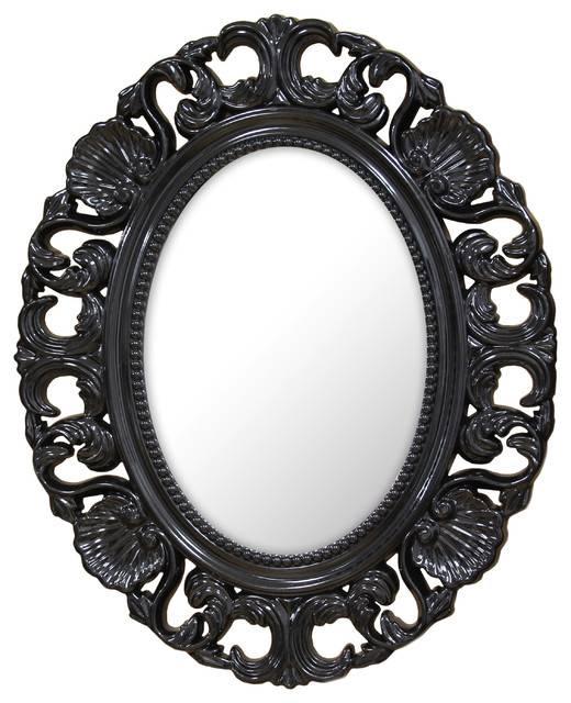 Stratton Baroque Mirror – Victorian – Wall Mirrors  Stratton With Baroque Black Mirrors (#20 of 20)