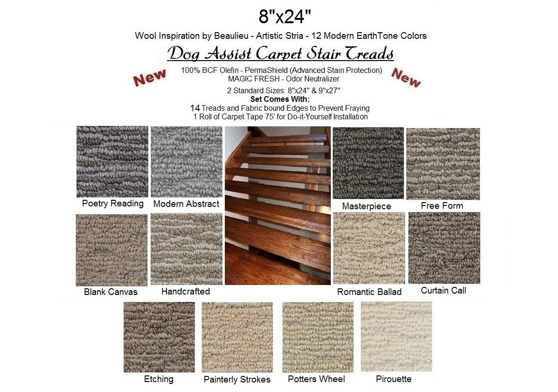 Stria Iii Dog Assist Carpet Stair Treads Regarding Wool Carpet Stair Treads (#17 of 20)