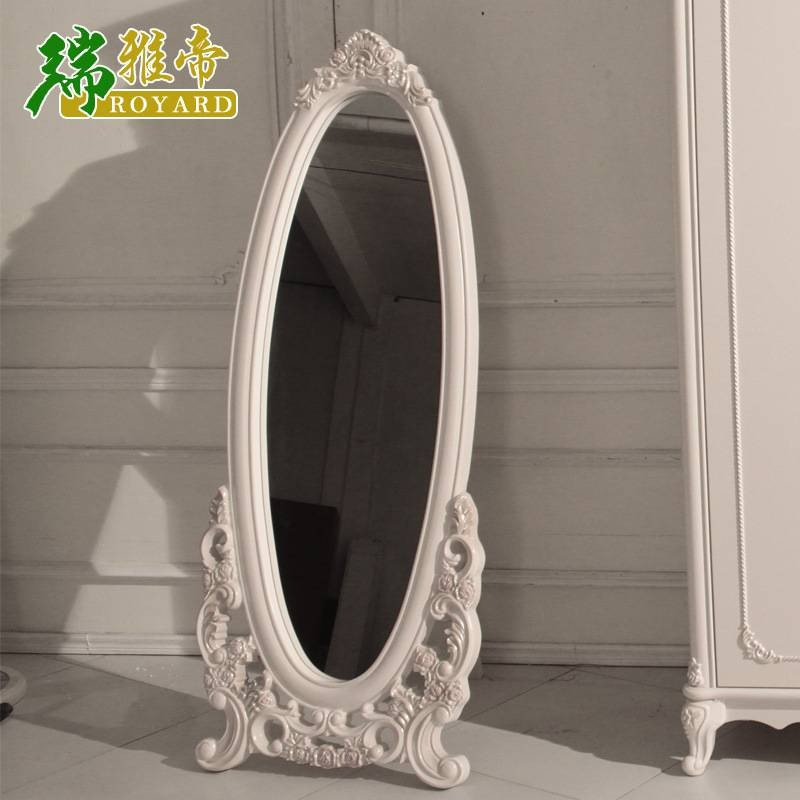 Style Full Length Mirror Trying On French White Lotus Wood Floor For French Style Full Length Mirrors (View 14 of 15)