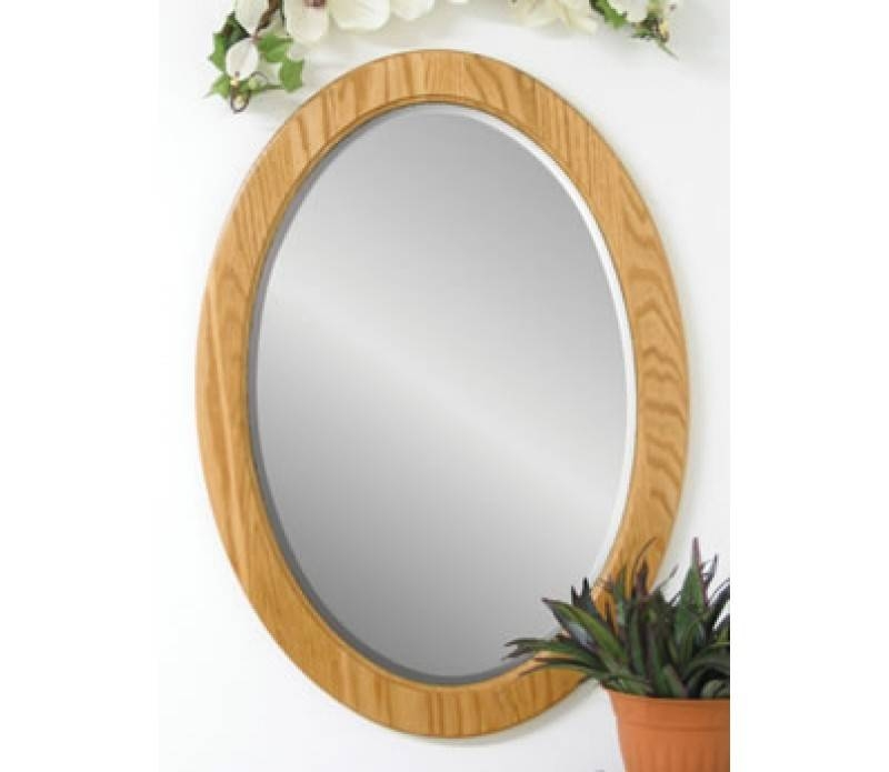 Style Solid Wood Large Oval Wall Mirror For Large Oval Wall Mirrors (#29 of 30)
