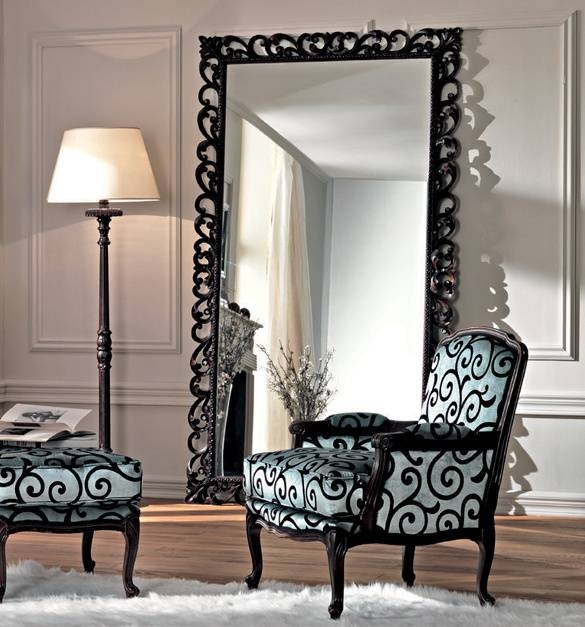 Style Your Home With Large Floor Mirrors Pertaining To Black Large Mirrors (#18 of 20)